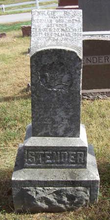 STENDER, WILLIE H. H. - Shelby County, Iowa | WILLIE H. H. STENDER
