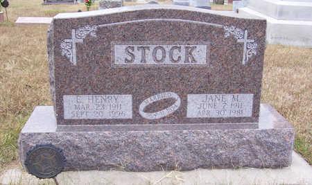 STOCK, JANE M. - Shelby County, Iowa | JANE M. STOCK