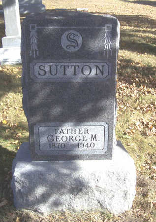 SUTTON, GEORGE M. (FATHER) - Shelby County, Iowa   GEORGE M. (FATHER) SUTTON