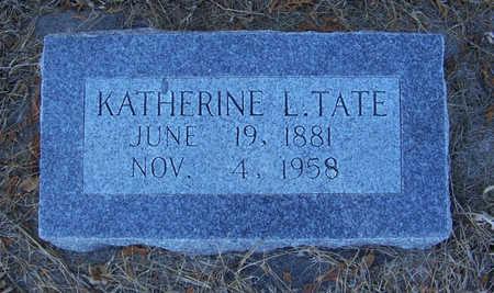 TATE, KATHERINE L. - Shelby County, Iowa   KATHERINE L. TATE