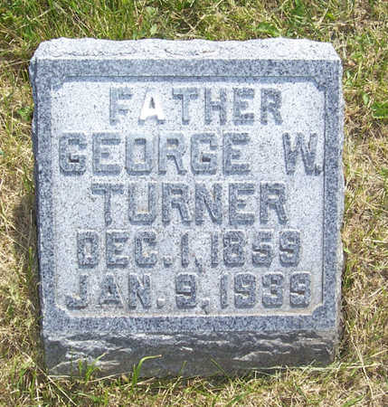 TURNER, GEORGE W. - Shelby County, Iowa   GEORGE W. TURNER