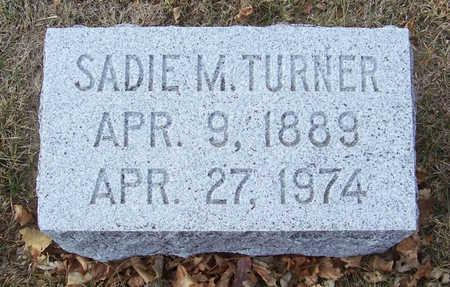 TURNER, SADIE M. - Shelby County, Iowa | SADIE M. TURNER