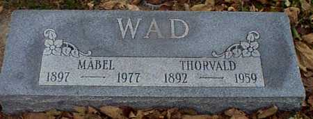 WAD, MABEL - Shelby County, Iowa | MABEL WAD