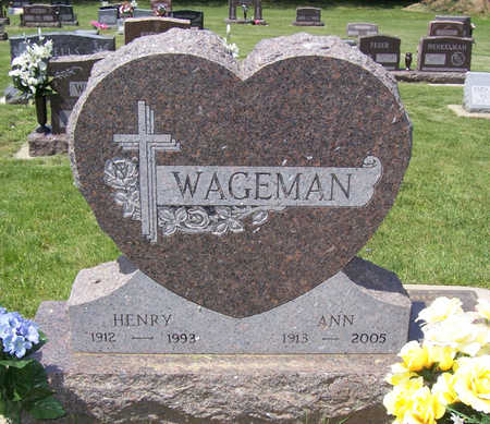 WAGEMAN, ANN - Shelby County, Iowa   ANN WAGEMAN