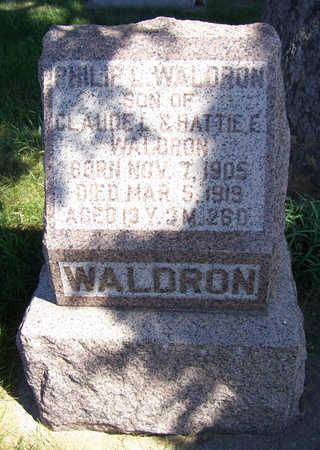 WALDRON, PHILIP L. - Shelby County, Iowa | PHILIP L. WALDRON