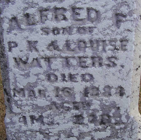 WATTERS, ALFRED F. (CLOSE-UP) - Shelby County, Iowa | ALFRED F. (CLOSE-UP) WATTERS