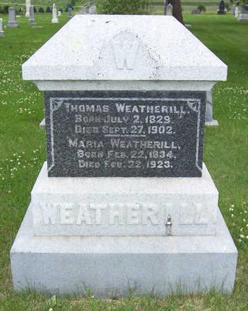 WEATHERILL, MARIA - Shelby County, Iowa   MARIA WEATHERILL