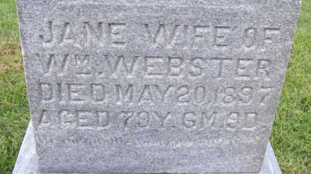 WEBSTER, JANE (CLOSE UP) - Shelby County, Iowa | JANE (CLOSE UP) WEBSTER