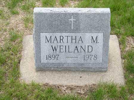 WEILAND, MARTHA M. - Shelby County, Iowa | MARTHA M. WEILAND