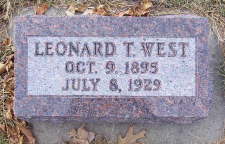 WEST, LEONARD T. - Shelby County, Iowa   LEONARD T. WEST