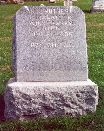 WICKERSHAM, ELIZABETH - Shelby County, Iowa | ELIZABETH WICKERSHAM