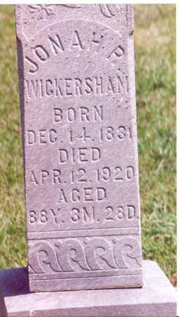 WICKERSHAM, JONAH P. - Shelby County, Iowa   JONAH P. WICKERSHAM