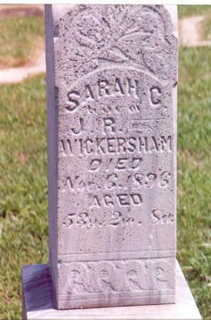 WICKERSHAM, SARAH C. - Shelby County, Iowa   SARAH C. WICKERSHAM