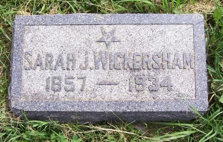 WICKERSHAM, SARAH J. - Shelby County, Iowa | SARAH J. WICKERSHAM