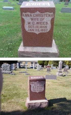 WIGES, ANNA CHRISTENA (ANNA KJERSTINE) - Shelby County, Iowa | ANNA CHRISTENA (ANNA KJERSTINE) WIGES