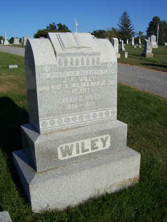 WILEY, SARAH E. - Shelby County, Iowa | SARAH E. WILEY