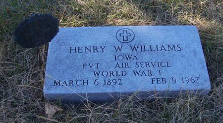 WILLIAMS, HENRY W. (MILITARY) - Shelby County, Iowa | HENRY W. (MILITARY) WILLIAMS
