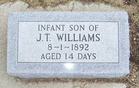 WILLIAMS, INFANT SON - Shelby County, Iowa   INFANT SON WILLIAMS