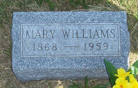 WILLIAMS, MARY - Shelby County, Iowa | MARY WILLIAMS