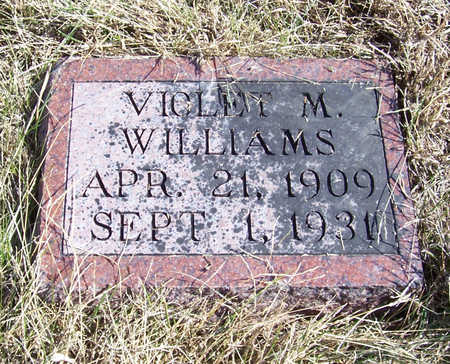 WILLIAMS, VIOLET M. - Shelby County, Iowa | VIOLET M. WILLIAMS