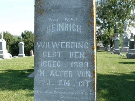 WILWERDING, HEINRICH - Shelby County, Iowa | HEINRICH WILWERDING