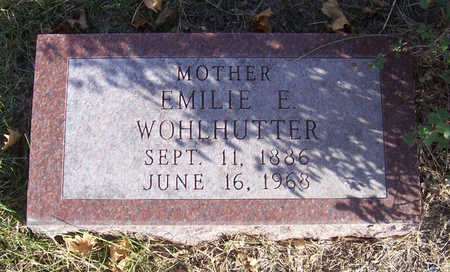 WOHLHUTTER, EMILIE E. (MOTHER) - Shelby County, Iowa | EMILIE E. (MOTHER) WOHLHUTTER