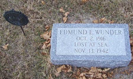 WUNDER, EDMUND E. - Shelby County, Iowa   EDMUND E. WUNDER