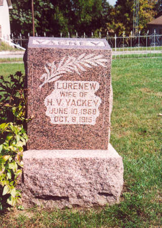 YACKEY, LURENEW - Shelby County, Iowa | LURENEW YACKEY