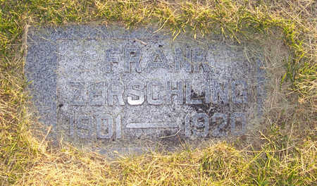 ZERSCHLING, FRANK - Shelby County, Iowa | FRANK ZERSCHLING