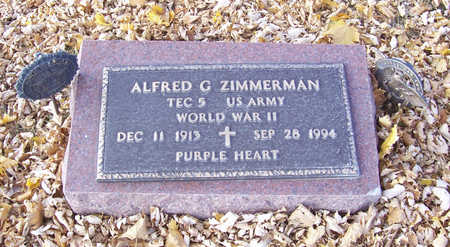 ZIMMERMAN, ALFRED G. (MILITARY) - Shelby County, Iowa | ALFRED G. (MILITARY) ZIMMERMAN