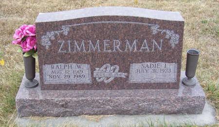 ZIMMERMAN, RALPH W. - Shelby County, Iowa | RALPH W. ZIMMERMAN