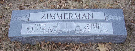 ZIMMERMAN, SARAH L. (MOTHER) - Shelby County, Iowa | SARAH L. (MOTHER) ZIMMERMAN