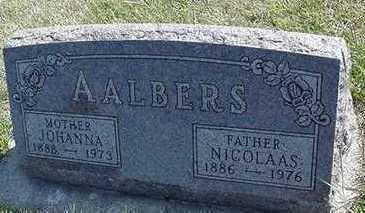 AALBERS, NICHOLAS - Sioux County, Iowa   NICHOLAS AALBERS