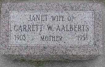 AALBERTS, JANET (MRS. GARRETT W.) - Sioux County, Iowa | JANET (MRS. GARRETT W.) AALBERTS
