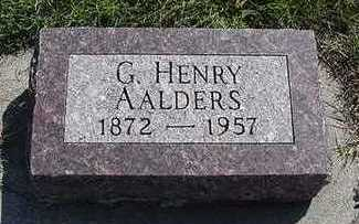 AALDERS, G. HENRY - Sioux County, Iowa | G. HENRY AALDERS