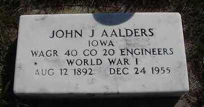 AALDERS, JOHN J. - Sioux County, Iowa | JOHN J. AALDERS