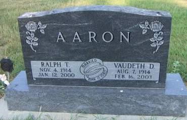 AARON, VAUDETH D. - Sioux County, Iowa | VAUDETH D. AARON