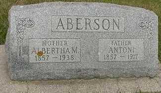 ABERSON, ANTONI  D.1917 - Sioux County, Iowa   ANTONI  D.1917 ABERSON