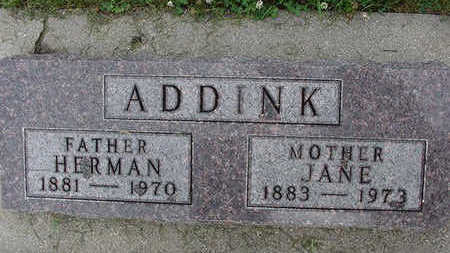 ADDINK, JANE - Sioux County, Iowa | JANE ADDINK