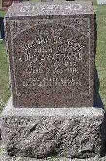 AKKERMAN, JOHANNA (MRS. JOHN) - Sioux County, Iowa   JOHANNA (MRS. JOHN) AKKERMAN