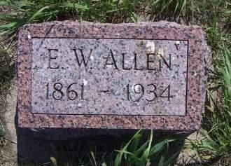 ALLEN, E. W. - Sioux County, Iowa | E. W. ALLEN