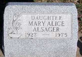 ALSAGER, MARY ALICE - Sioux County, Iowa   MARY ALICE ALSAGER