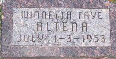 ALTENA, WINNETTA FAYE - Sioux County, Iowa   WINNETTA FAYE ALTENA