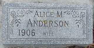 ANDERSON, ALICE M. - Sioux County, Iowa | ALICE M. ANDERSON