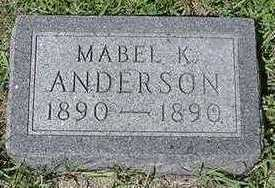 ANDERSON, MABEL K. - Sioux County, Iowa | MABEL K. ANDERSON