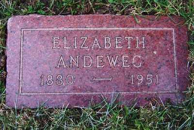ANDEWEG, ELIZABETH - Sioux County, Iowa   ELIZABETH ANDEWEG