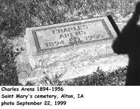 ARENS, CHARLES - Sioux County, Iowa | CHARLES ARENS