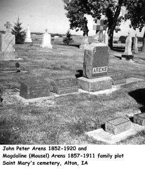 ARENS, FAMILY PLOT - Sioux County, Iowa   FAMILY PLOT ARENS