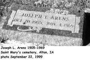 ARENS, JOSEPH L. - Sioux County, Iowa | JOSEPH L. ARENS
