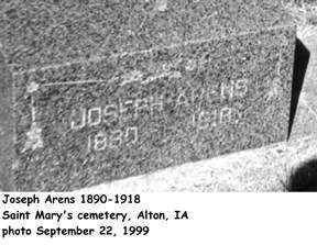ARENS, JOSEPH - Sioux County, Iowa | JOSEPH ARENS